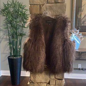 Darling Ann Taylor Faux Fur Vest